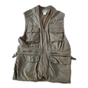 L.L. Bean Vest Vintage Fishing Hunting  Size M